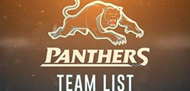 Round 22: Team List vs Eels