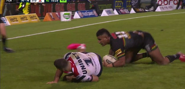 Kikau scores match-winner against the Roosters