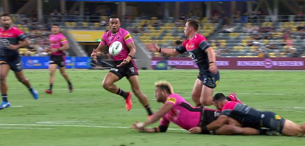 Kikau slices through and finds Crichton in support