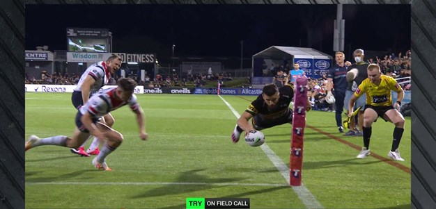 Mansour dives over for the Panthers first try