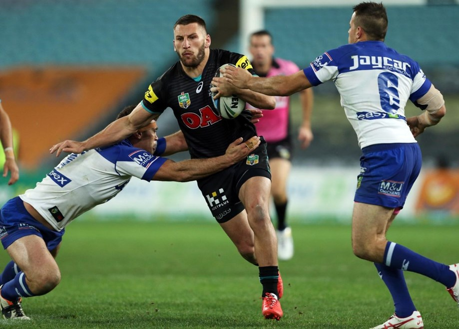 Digital Image by Robb Cox ©nrlphotos.com: Lewis Brown :NRL Rugby League - Round 21, Canterbury Bankstown Bulldogs V Penrith Panthers at ANZ Stadium, Friday August 1st 2014.