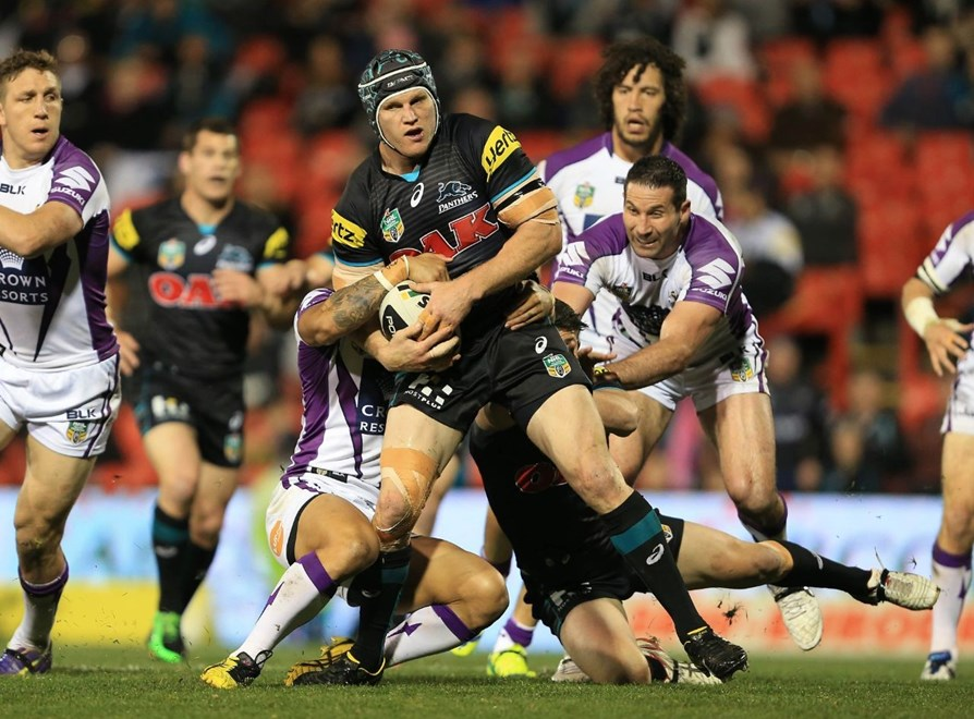 Digital Image by Robb Cox ©nrlphotos.com: Nigel Plum :NRL Rugby League - Round 24, Penrith Panthers V Melbourne Storm at Sportingbet Stadium, Monday August 25th 2014.