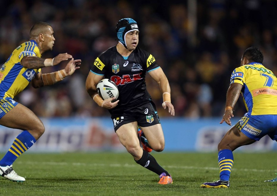 Digital Image by Robb Cox ©nrlphotos.com :Jamie Soward : NRL Rugby League, Penrith Panthers V Parramatta Eels  at Sporting Bet Stadium, Penrith. Friday the 30th of May 2014.
