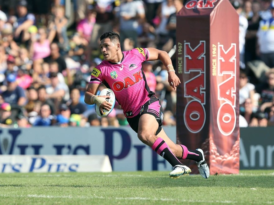 Dallin Watene-Zelezniak  : Digital Image by Robb Cox ©nrlphotos.com:  :NRL Rugby League - Penrith Panthers V Canterbury Bankstown Bulldogs at Pepper Stadium, Penrith. Sunday March 8th 2015.