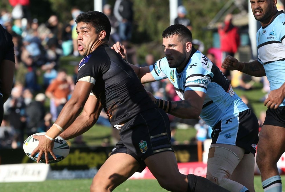 Digital Image by Anthony Johnson copyright © nrlphotos.com: Tyrone Peachey : 2015 NYC  Round 8 - Penrith Panthers vs Cronulla Sharks at Pepper Stadium, Sunday April 26th 2015