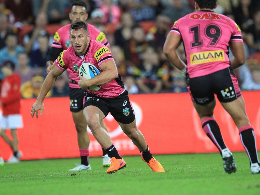 :	Digital Image by Colin Whelan copyright © nriphotos.             NRL Rugby League, Round 9 Brisbane Broncos v Penrith Panthers at Suncorp Stadium, Friday May8th  2015.