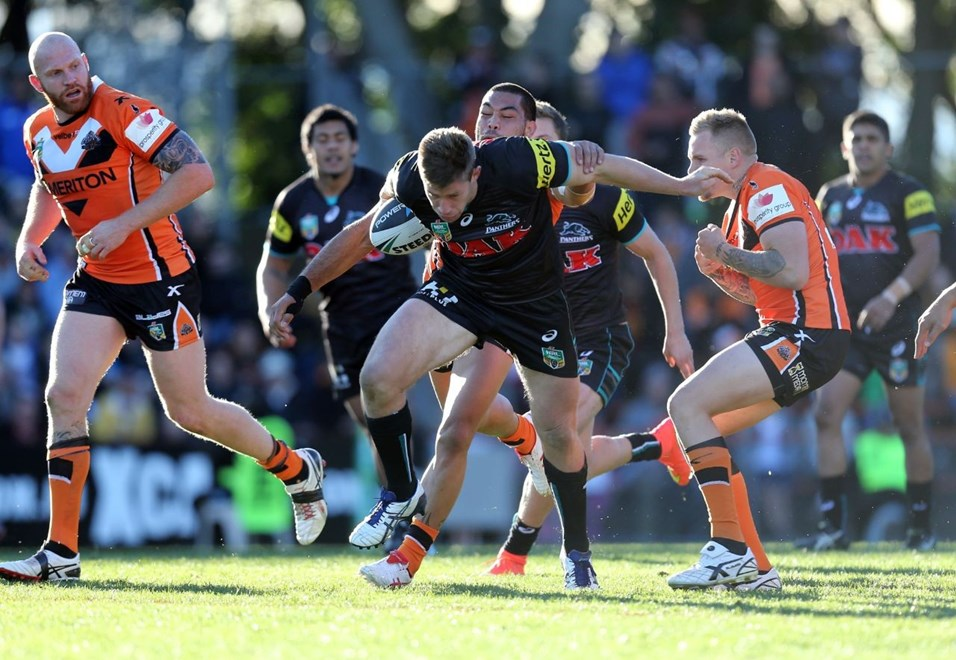 Digital Image Grant Trouville © nrlphotos.com : Jeremy Latimore : NRL Rugby League Round 17 - Wests Tigers v Penrith Panthers at Leichhardt Oval sunday  June 6th  2014.