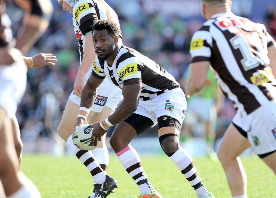 James Segeyaro : NRL Rugby League - Panthers V Raiders at Pepper Stadium, Sunday July 26th 2015. Digital Image by Robb Cox ©nrlphotos.com