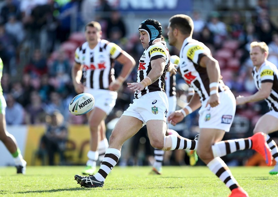 Jamie Soward : NRL Rugby League - Panthers V Raiders at Pepper Stadium, Sunday July 26th 2015. Digital Image by Robb Cox ©nrlphotos.com