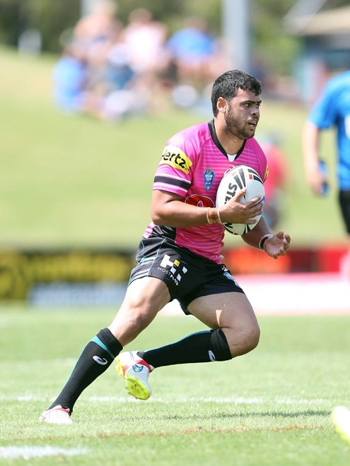 Adrian Davis : Digital Image by Robb Cox ©nrlphotos.com:  :NSW Cup Rugby League - Penrith Panthers V Canterbury Bankstown Bulldogs at Pepper Stadium, Penrith. Sunday March 8th 2015.