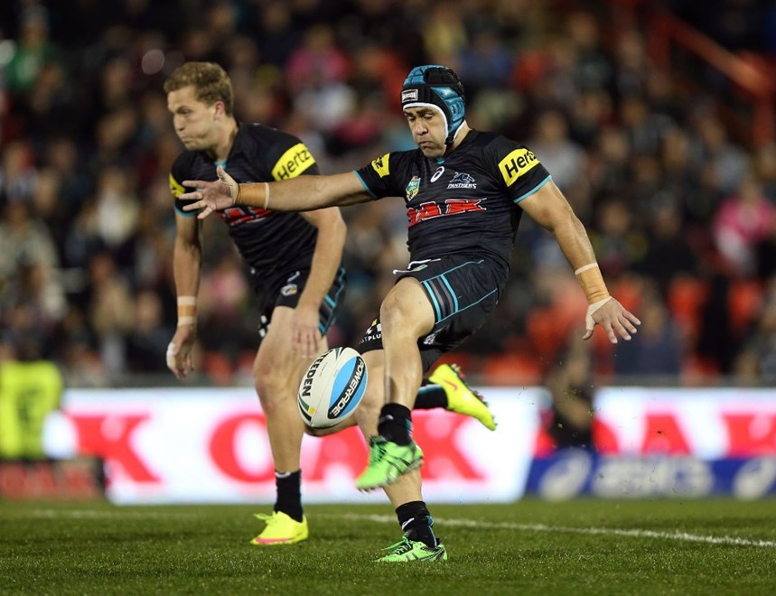 Jamie Soward : Digital Photograph by Robb Cox © NRL Photos : NRL: Rugby League, Penrith Panthers Vs Parramatta Eels at Pepper Stadium, Penrith. Friday 29th May 2015.