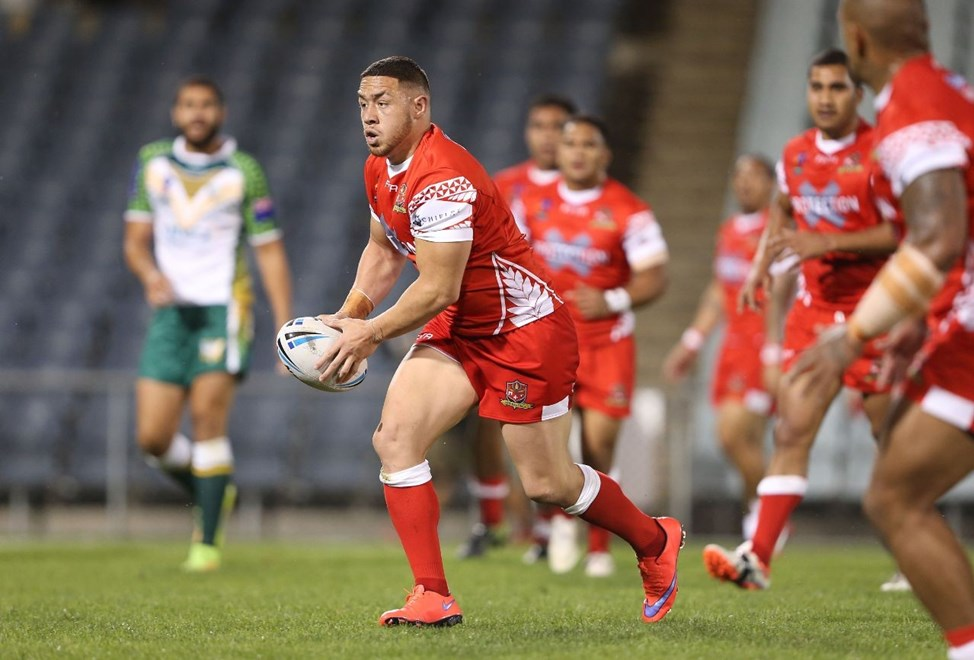 Daniel Foster : Digital Image by Robb Cox ©nrlphotos.com:  :NRL Rugby League International - Cook Islands V Tonga, at Campbelltown Stadiumn, Saturday October 17th 2015.