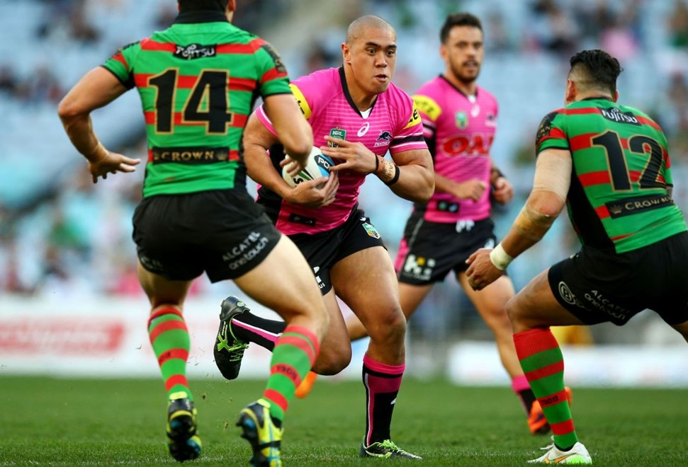 Round 21 NRL match between the South Sydney Rabbitohs and the Penrith Panthers and the South Sydney Rabbitohs at ANZ Stadium on August 2, 2015 in Sydney, Australia. Digital Image by Mark Nolan.