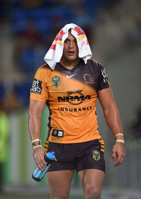 Alex Glenn : Digital Image by Scott Davis copyright © nriphotos. NRL Rugby League, Gold Coast Titans v Brisbane Broncos at Cbus Super Stadium, Gold Coast, April 3rd, 2015.