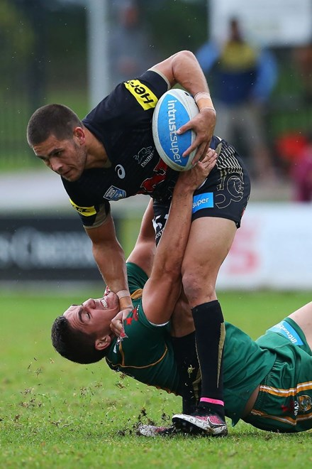 The Wyong Roos play Penrith Panthers in Round 7 of the Intrust Super Premiership at Morry Breen Oval on 17 April, 2016 in Kanwal, NSW Australia. (Photo by Paul Barkley/LookPro)