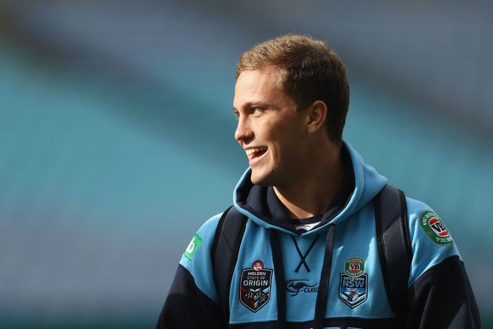 SYDNEY, AUSTRALIA - MAY 31:  Matt Moylan arrives for the New South Wales State of Origin captain's run at ANZ Stadium on May 31, 2016 in Sydney, Australia.  (Photo by Mark Kolbe/Getty Images)