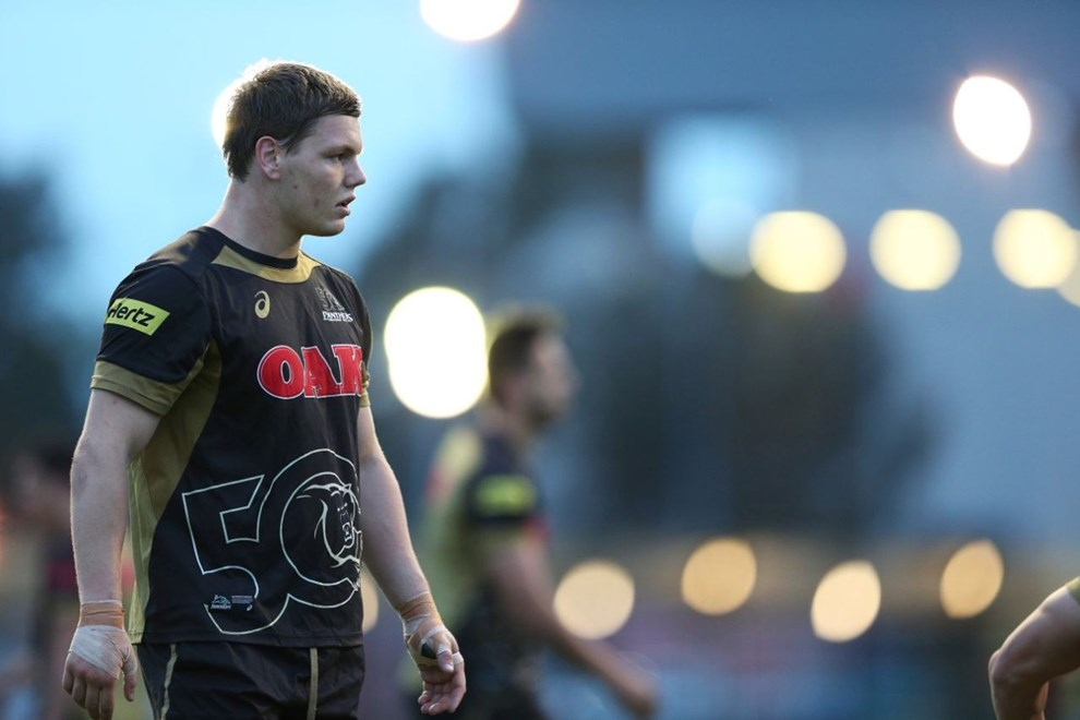 Reed Izzard during Panthers NYC Training. Panthers Rugby League Academy. Photo by Jeff Lambert (Penrith Panthers). Shot on Canon 1DX.