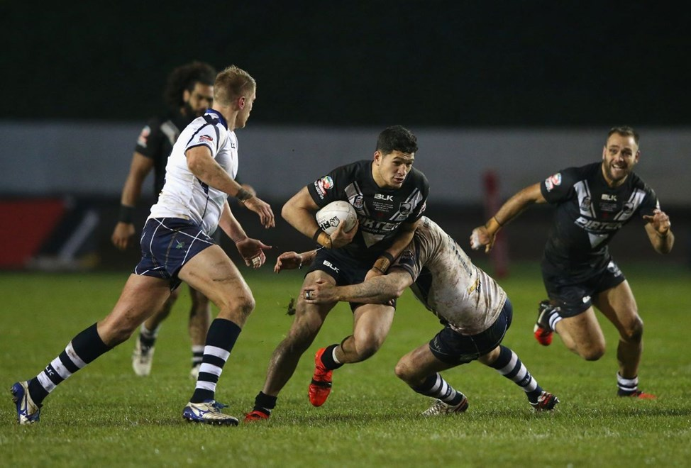 WORKINGTON, ENGLAND - NOVEMBER 11:  Dallin Watene-Zelezniak  of New Zealand during the Four Nations match between the New Zealand Kiwis and Scotland at Zebra Claims Stadium on November 11, 2016 in Workington, United Kingdom.  (Photo by Alex Livesey/Getty Images)