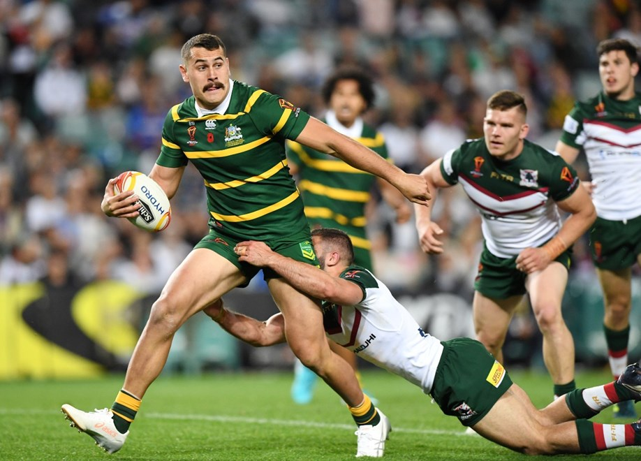 RLWC Australia vs Lebanon at the Sydney Football Stadium.Picture : NRL Photos/Gregg Porteous