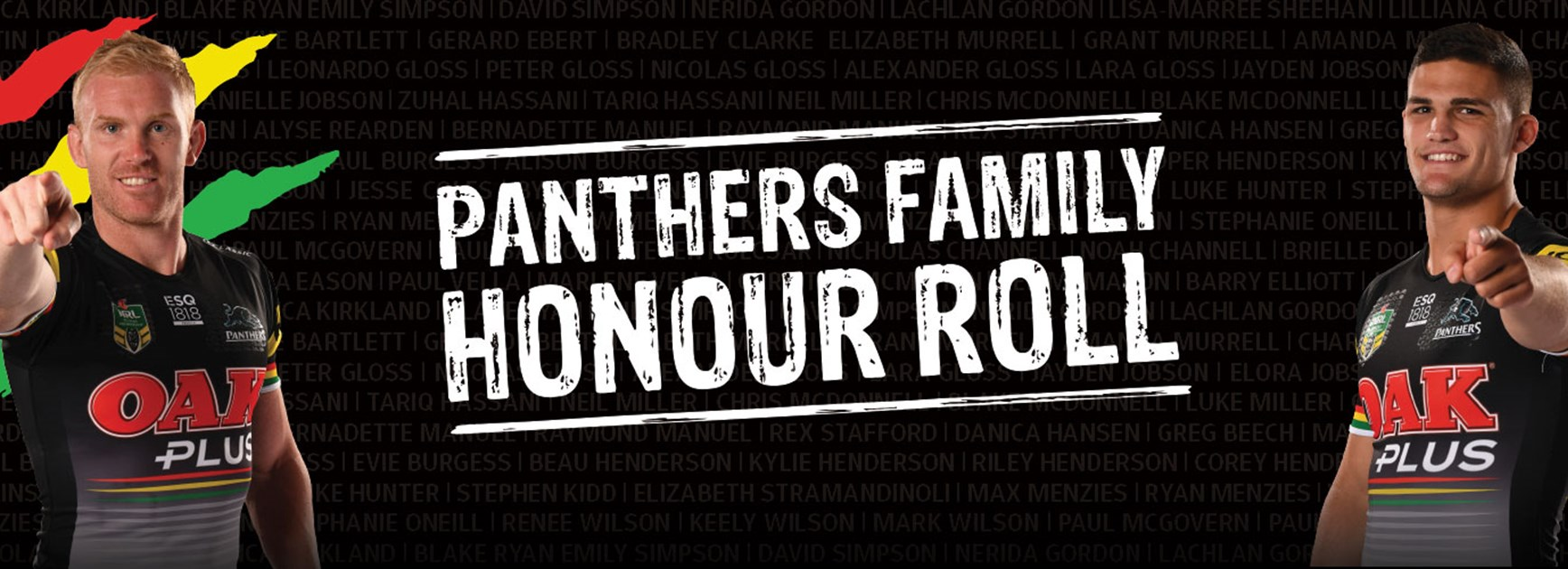 Panthers Family Honour Roll