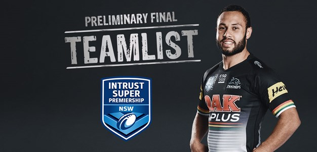ISP Teamlist: Preliminary Final