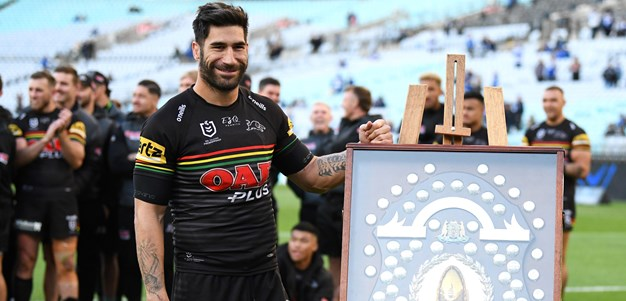 NRL CEO presents Panthers with J.J. Giltinan Shield